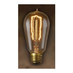 Bulbrite - Nostalgic Edison Hairpin Light Bulbs - 6 Bulb - One pack of 6 Bulbs. Intricate filament design. Bright filaments for warm and amber glow. Excellent replica of antique light bulbs. 120V E26 base 1890 incandescent bulb type. Dimmable. Wattage: 40W. Average hours: 3000. Color rendering index: 100. 360 degrees beam spread. Color temperature: 2200K. Can be used as indoor and outdoor. Perfect accent for any antique decor. Ideal for chandeliers, sconces, and outdoor lighting, signage and displays. Antique color. Lumens: 115. Maximum overall length: 4.8 in.Historic lamps add the ideal finishing touch of authenticity to fixtures. Meticulously crafted to preserve the look of early 20th-century lighting, Bulbrite's Nostalgic Collection is the perfect complement to any vintage or contemporary decor.