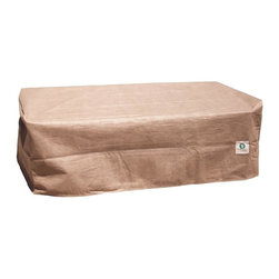 """Duck Covers 40""""L Patio Ottoman / Side Table Cover - Patio Ottoman OR Coffee Table Actual Cover Size - 40"""" L x 36"""" W x 18"""" H"""