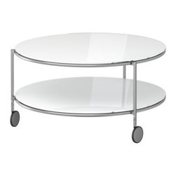 Ehlén Johansson - STRIND Coffee table - Coffee table, white, nickel plated