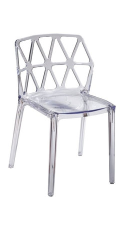 Fine Mod Imports - Zig Zag Dining Chair - The Zig Zag Dining chair is a serene design which allows it to be used for residential or commercial uses. Made of clear acrylic, it transcends space, creating space where there was little. The chair is sturdy and durable even as it displays a delicate, ethereal appearance. This versatile side chair is suitable for indoor and outdoor use.