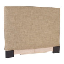 Howard Elliott - Coco  King Headboard Slipcover - Refresh the look of your slipcovered headboard simply by updating the cover! Change with the seasons, or on a whim. This piece features a soft burlap stone cover.