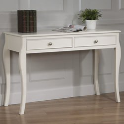 """Coaster - Dominique Desk, White - This beautiful twin bed set creates a gorgeous focal point. Classic details like flared posts, simple curved molding and silver metal knobs add to the timeless style for a sophisticated and inviting youthful bedroom suite. Matching desk available to accommodate your dedicated student. This collection has a look to create a soothing getaway in your child's bedroom they will truly love.; Traditional Style; Finish/Color: White; Box Spring/Foundation Required; Dimensions: 48.50""""L x 20""""W x 32""""H"""
