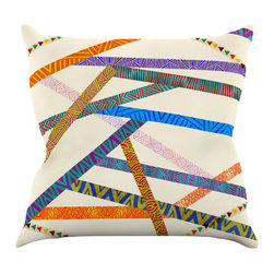 """Kess InHouse - Pom Graphic Design """"Unparalleled"""" Throw Pillow (16"""" x 16"""") - Rest among the art you love. Transform your hang out room into a hip gallery, that's also comfortable. With this pillow you can create an environment that reflects your unique style. It's amazing what a throw pillow can do to complete a room. (Kess InHouse is not responsible for pillow fighting that may occur as the result of creative stimulation)."""