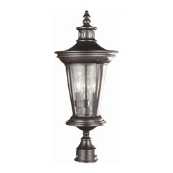 World Imports - Northampton 3 Light Exterior Post Mount Lante - Manufacturer SKU: WI7426589. Bulbs not included. Post not included. Elegant English style lanterns that can hang outdoors. Seedy Glass. Bronze Finish. Northampton Collection. 3 Lights. Power: 60w. Type of bulb: Candelabra. Bronze finish. 10.5 in. D x 25.25 in. H (12 lbs.)