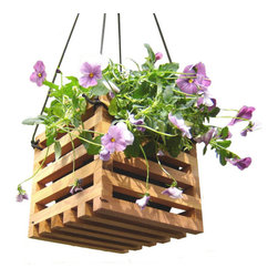 Hanging Basket Planter From Reclaimed Wood By andrewsreclaimed - Indoors or outdoors, it's my belief that one can never have too many flowers. This reclaimed wood hanging planter would look good with just about anything in it, from a big bushy petunia to a vibrant green sweet-potato vine.