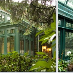 Rectangular Gable Greenhouse Room -