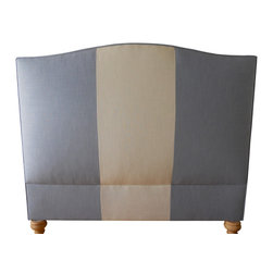 Hampton Headboard - The Hampton Headboard is shown here upholstered in Home Linen, Grade #3.   Price quoted is for a Queen size headboard in a Grade #1 fabric.  Also available as a complete bed.