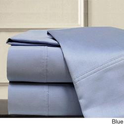 None - 1000 Thread Count Solid 4-piece Sheet Set - Sleep well with these luxuriously comfortable 1000 thread count sheets,crafted with a rich Egyptian cotton and polyester blend. Available in several colors,these sheets and pillowcases are accented with a double-hole hem design.