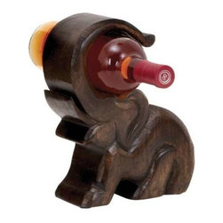 "Benzara - Design Wood Wine Holder with Great Finesse - Design Wood Wine Holder with Great Finesse. Impress your guests with this wood wine holder 7""W, 10""H when they come to you for a special occasion. It comes with a dimension: 7"" W x 3"" D x 10"" H."