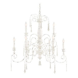 """Minka Lavery - Minka Lavery 1239 9 Light 34"""" Height 2 Tier Candle Style Crystal Chandelier from - 34"""" Height Nine Light Two Tier Candle Style Crystal Chandelier from the Accents Provence CollectionFeatures:"""