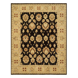 """Loloi Rugs - Loloi Rugs Vernon Collection - Java / Gold, 8'-6"""" x 11'-6"""" - The hand-knotted Vernon Collection is at once sophisticated and trendy. Made in India of 100-percent fine wool, Vernon's traditional designs are inspired by Turkish Oushaks. Note the meticulous antique finishing, which gives each rug in the collection a distinctive, Old-World patina. Vernon takes traditional rug fashions up a notch."""