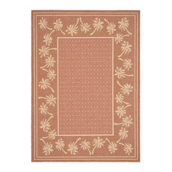 Safavieh - Safavieh Courtyard Cy5148A Rust / Sand Area Rug - Traditional patterns and classic beauty are found in the area rugs of the Courtyard collection. Made in Belgium of enhanced polypropylene, these rugs are extremely durable and perfect for indoor or outdoor use. The area rugs of the Safavieh Courtyard collection offer highly detailed and sophisticated designs created through an unusual sisal weave. Select the colors, design, and style that will compliment any room in your home in round, rectangular or runner rugs.