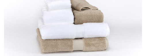 """Towels by G.U.S. - Hotel Collection Organic Cotton Bath Towel, White, Bath Towel - Made right here in the USA. These classic hotel style, organic towels hail from our Southern Peach State of Georgia. These towels come in two beautifully defined color lines and are accented with a classically detailed 2.5"""" borders. These towels are the ultimate choice for high traffic bathrooms. For years, national hoteliers have been turning to this sturdy towel to enhance the comfort of their guests and now, you can too."""