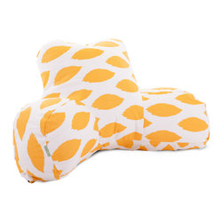 Majestic Home - Indoor Yellow Alli Reading Pillow - Put this piece on your bestseller list. A super supportive reader pillow to prop you up for relaxation and a simple modern pattern that's easy on the eyes. The bonus: The cotton twill slipcover zips off so you can toss it in the wash when needed.