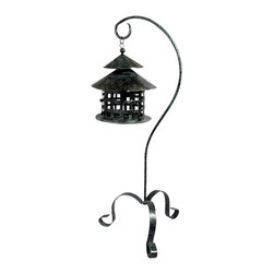 AA Importing - Metal Lantern Candle Holder w Stand in Dark G - Whether you use it indoors as a decorative accessory or outdoors to light the way along your garden path, this fabulous metal lantern will make quite an impression.  The antique style dark green finish has an interesting patina and perfectly complements the classic design.   Add your own tea light or votive candle, and relax around the warm alluring glow.  This fabulous lantern creates fantastic mood lighting around pool, patio, or spa. Metal lantern on stand. 7.5 in. Dia. x 31 in. H