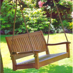 All Things Cedar 4-ft. Roosevelt Teak Porch Swing - Anything that swings is enjoyable for adults and kids alike!