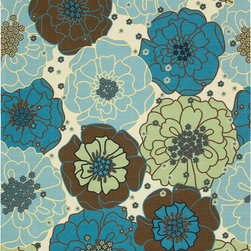 Nourison - Nourison Home and Garden RS021 (Light Blue) 10' x 13' Rug - Add some excitement to any surrounding with these magnificent indoor/outdoor rugs. Floral, scrollwork, and animal-skin patterns in vivid color make this a truly eye-catching collection. These versatile rugs are beautiful to look at, soft to walk on, easy to clean by just hosing down and can withstand almost all outdoor conditions. Indoor or Outdoor Uses UV Protected Mildew Proof Fade Resistant Easy Clean: Just Rinse with a Hose