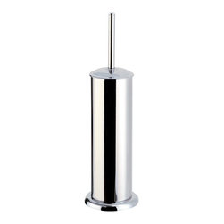 Gedy - Floor Standing Polished Chrome Toilet Brush Holder - Just the toilet brush for a more modern master bathroom - start with this toilet brush holder.