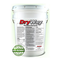"RadonSeal® - DryWay Water-Repellent Concrete Sealer (5-gal) - DryWay Water-Repellent Concrete Sealer is the latest and most advanced type of penetrating water-repellent sealers for concrete and porous masonry. The sealer's small molecules penetrate 1/2"" into the substrate, chemically reacts, bonds, and cures in a long-chain of molecules. It is like filling the pores of your concrete with hard silicone caulk!"