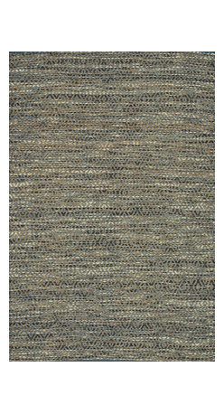 """Loloi Rugs - Loloi Rugs Leyton Collection - Blue / Natural, 3'-6"""" x 5'-6"""" - The Leyton Collection features a series of hand-woven dhurries with simple, yet playful designs, enhanced by its vibrant colors. Made of 60% wool and 40% cotton from India, Leyton's patterns are elevated to create a high/low effect for enriched value."""