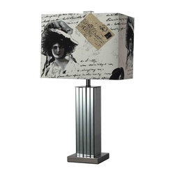 Dimond Lighting D2159 Meade Black Nickel Table Lamp - Dimond Lighting D2159 Meade Black Nickel Contemporary Table Lamp - Wattage: 100 W. - # of Bulbs: 1. - Socket Type: Medium Socket. - Installation Required: Yes. - Weight: 4lbs.