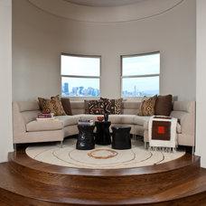Contemporary Living Room by Jennifer Gustafson Interior Design