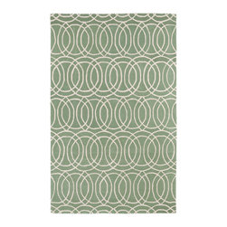 Kaleen - Kaleen Revolution Collection REV02-88 2' x 3' Mint - The color Revolution is here! Trendy patterns with a fashion forward twist of the hottest color combinations in a rug collection today. Transform a room with the complete color makeover you were hoping for and leaving your friends jealous at the same time! Each rug is hand-tufted and hand-carved for added texture in India, with a 100% soft luxurious wool.