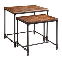 Stein World 12352 Wood and Metal Nesting Tables - Set of 2