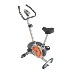 Crescendo Fitness - Crescendo Fitness Magnetic Resistance Exercis - Magnetic exercise bike is designed for any home gym and features a smooth ride with magnet resistance in a space saving design you are sure to enjoy. Helps tone muscles, burn calories, and enhance coordination while going easy on the knees, ankles, and back. The Crescendo Fitness Magnetic Resistance Exercise Bike.  The perfect addition to any home gym.  This upright exercise bike is designed to provide smooth magnetic resistance for multi-level workouts.  Its the perfect way to lose weight, tone muscles, or just get back in shape.  Bike riding is low-stress exercise on joint and muscles.  The 5 KG bi-directional flywheel provides smooth, variable resistance.  The 7-function onboard computer monitor displays scan, pulse, elapsed time, speed, calories burned, distance traveled, and total miles. 250 lbs. recommended weight limit.  Additional features; Adjustable seat; Front coaster-style wheels for easy transport; Large foot pedal for additional comfort.  Includes complete easy to follow instructions.  Assembly takes 2 people approx 1 hour.