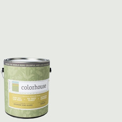 Inspired Semi-Gloss Interior Paint, Imagine .05, Gallon - Colorhouse paints are zero VOC, low-odor, Green Wise Gold certified and have superior coverage and durability. Our artist-crafted colors are designed to be easy backdrops for living. Colorhouse paints are 100% acrylic with no VOCs (volatile organic compounds), no toxic fumes/HAPs-free, no reproductive toxins, and no chemical solvents.