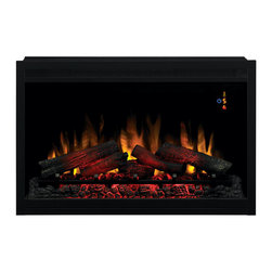 """Dimplex - ClassicFlame 36-Inch 240V Traditional Builders Box - 36EB220-GRT - The ClassicFlame 36"""" Electric Fireplace 36EB220-GRT features an automatic on screen indicator that can be controlled by remote control or manually. The ClassicFlame 36"""" 220V Traditional Builders Box 36EB220-GRT has a integrated junction box for hardwiring installation. This built in electric fireplace can be installed in interior or exterior walls or corners before or after drywall has been completed. Classic Flame 36"""" Built In Electric Fireplaces have a zero clearance design, multi-function remote control and 2 year warranty."""