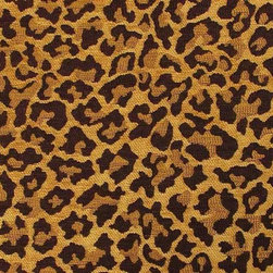 Leopard Chenille Faux Fur Upholstery Fabric - This very luxurious and soft leopard pattern chenille fabric has a beautiful, rich golden shimmer than a digital photograph cannot capture. There is a very thick pile to the fabric and it is very durable while retaining soft feel.