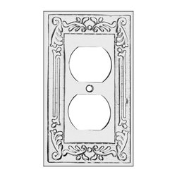 Renovators Supply - Switchplates Chrome Victorian Single Outlet Switch Plate - Victorian Chrome Single Outlet. Beautiful Victorian inspired switchplates gives any room that perfect touch! Make of die cast brass with a chrome-plate finish. Exquisite design and quality.