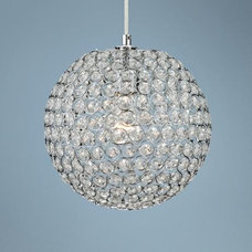 "Crystal Beaded 10"" Round Pendant Light 