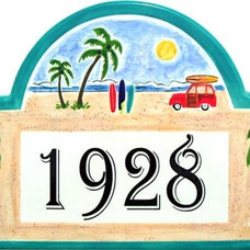 Tropical House Numbers by Classy Plaques Studio
