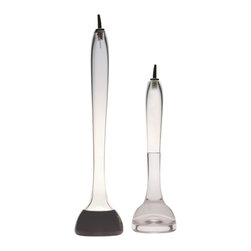 Esque - Acidic + Basic Jigger Set - Why not dress up the basics in your kitchen? The elongated necks on these oil and vinegar containers make mixing salad dressing an elegant affair. The design is so distinctive they deserve to be out on display beyond mealtime. Keep these works of art on the table for everyday enjoyment.
