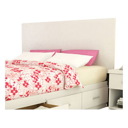 """Sonax - Sonax Frost White Hollow Core Full/Queen Headboard - Sonax - Headboards - DQ1401 - A simple contemporary design featuring a 1.5"""" thick hollow core headboard and night table with a 1.5"""" hollow core top surface and space for books. This new construction is durable and beautiful looking. The Frost White finish is fresh and appealing. All are crafted with special attention to detail making them easy to assemble. Uses a standard metal bed frame."""