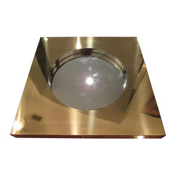 C. Jere - Consigned - C. Jere Brass Wall Mirror, Signed 1977 - Sleek and simple brass mirror signed C. Jere 1977. Square brass frame with round inset mirror. Handsome piece would work well with nearly any interior design style!