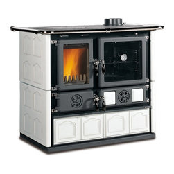 "La Nordica - Wood Cook Stove La Nordica ""Rosa Maiolica"", Wood Burning Cooker, White - Wood Cooking Stove La Nordica ""Rosa Maiolica"""