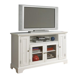 Home Styles - Home Styles Naples Entertainment Credenza in White - Home Styles - TV Stands - 553010