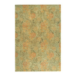 "Safavieh - Country & Floral Martha Stewart Hallway Runner 2'3""x10' Runner Woodland - Green - The Martha Stewart area rug Collection offers an affordable assortment of Country & Floral stylings. Martha Stewart features a blend of natural Woodland - Green color. Hand Tufted of Wool the Martha Stewart Collection is an intriguing compliment to any decor."