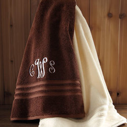 """Lauren by Ralph Lauren - Lauren by Ralph Lauren Hand Towel, Monogrammed - 670-gram Turkish cotton towels are available in a choice of 13 fresh colors. Select color when ordering. Machine wash. Face cloth cannot be monogrammed. Imported. Bath towel, 30"""" x 58"""". Body sheet, 35"""" x 72"""". Hand towel, 16"""" x 32"""". Face cloth, 13""""Sq. Tub mat, 25"""" x 38"""". You will be able to spe"""