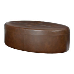Hammary - Hammary Hidden Treasures Oval Cocktail Ottoman in Cantina Cocoa - The Hidden Treasures cantina cocoa oval cocktail ottoman by Hammary is a must-have for any living or family room. Place in front of your favorite chair or sofa for a comfortable footrest. Makes for additional seating when guests arrive.