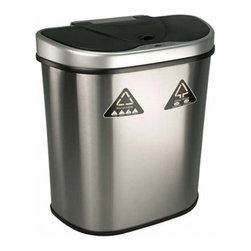 "Nine Stars - 26.2"" Stainless Steel Automatic Sensor 18.5 Gallon Garbage Disposal - The Nine Stars Automatic Sensor Trash Can Model # DZT-70-11R, with a capacity of 70 Liters (18.5 Gallons) uses the latest sensor technology. The Automatic Sensor Trash Can lid opens automatically with a simple wave of your hand or object in front of the infrared sensor. Trash can lid opens by placing your hand or any item within 10 inches of the infrared motion detector . The Automatic Sensor Trash Can lid will remain open for the duration of having an object within the sensor's range. Upon removing the object away from the infrared sensor, the Automatic Sensor Trash Can lid will automatically close after 3 seconds."