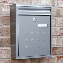 Amsden Locking Wall-Mount Stainless Steel Mailbox - Add a contemporary and long lasting look to your outside decor with the Amsden Wall-Mount Mail Box. Stainless steel gives a touch of modern flare and it is corrosion resistant.