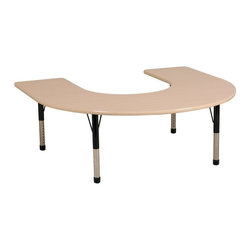 ECR4KIDS - ECR4KIDS 60 x 66 in. Maple Top Horseshoe Adjustable Activity Table - Chunky Legs - Shop for Childrens Tables from Hayneedle.com! About Early Childhood ResourcesEarly Childhood Resources is a wholesale manufacturer of early childhood and educational products. It is committed to developing and distributing only the highest-quality products ensuring that these products represent the maximum value in the marketplace. Combining its responsibility to the community and its desire to be environmentally conscious Early Childhood Resources has eliminated almost all of its cardboard waste by implementing commercial Cardboard Shredding equipment in its facilities. You can be assured of maximum value with Early Childhood Resources.
