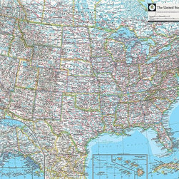 Magic Murals - Map of United States Wallpaper Wall Mural - Self-Adhesive - Multiple Sizes - Mag - Map of United States Wall Mural