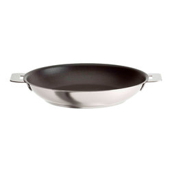 Cristel - Cristel Casteline Stainless Steel 8.6-inch Nonstick Fry Pan - Who said you can't have the best of both worlds! This fry pan is stainless steel with a nonstick surface for superior cooking. Plus, it features a detachable handle to transform into a serving piece.