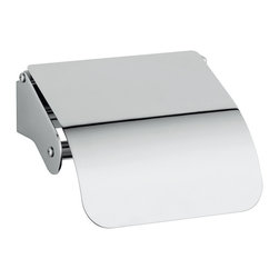 "WS Bath Collections - WS Bath Collections Upside 3044 Toilet Paper Holder with Cover - Upside 3044, 5.5"" x 5.3"" x 2.6"", Toilet Paper Holder with Cover in Polished Chrome"