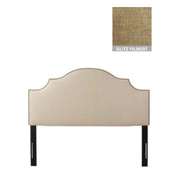 Home Decorators Collection - Custom Greyson Upholstered Headboard - Our Greyson Upholstered Headboard exudes elegant style with its gently arched, scalloped design and hand-applied nailhead trim. With a vast selection of beautiful, hand-sewn fabric options available, you can create a look you'll love with this custom-upholstered bedroom furniture. Includes hardware to attach to most standard bed frames. Assembled to order in the USA and delivered in 4-6 weeks. Spot clean only.